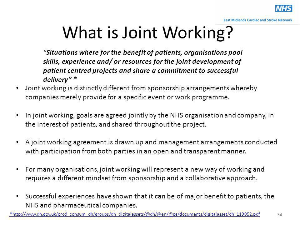 What is Joint Working.