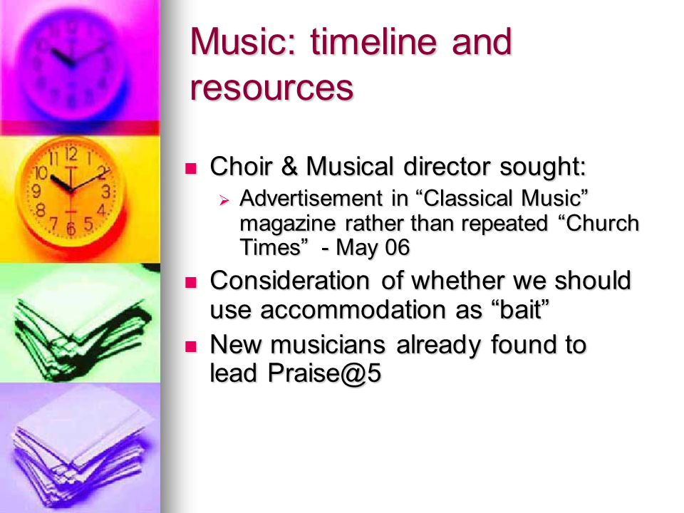 """Music: timeline and resources Choir & Musical director sought: Choir & Musical director sought:  Advertisement in """"Classical Music"""" magazine rather t"""