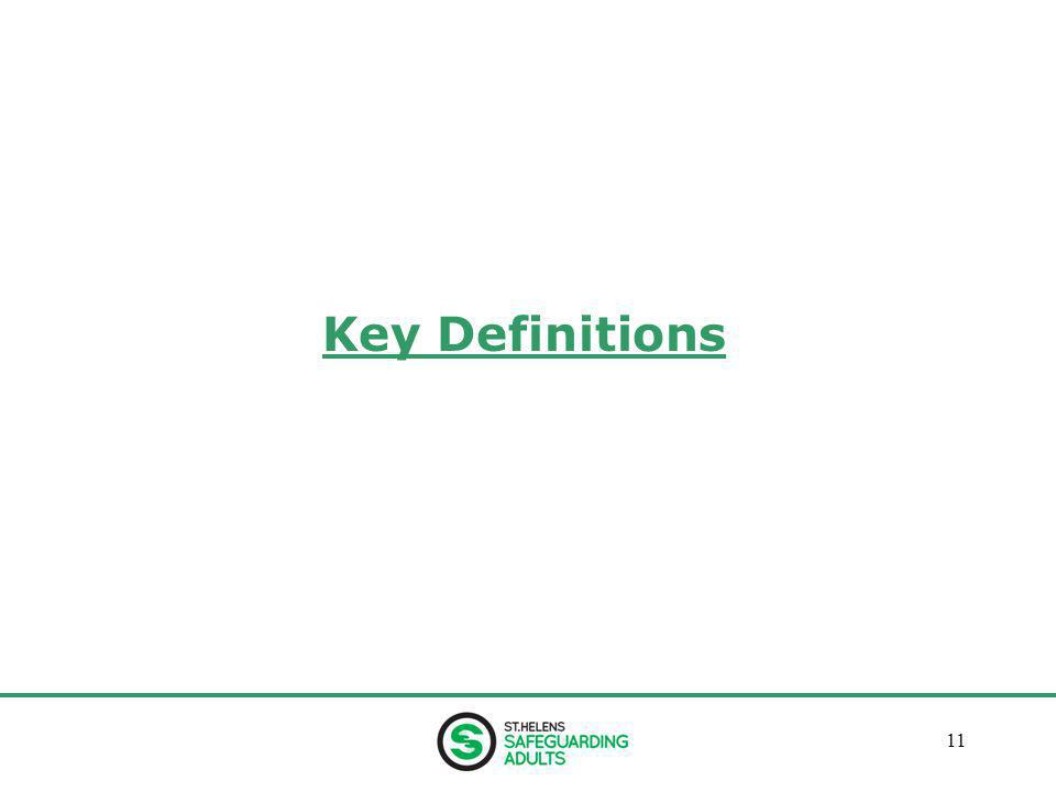 January 201311 Key Definitions