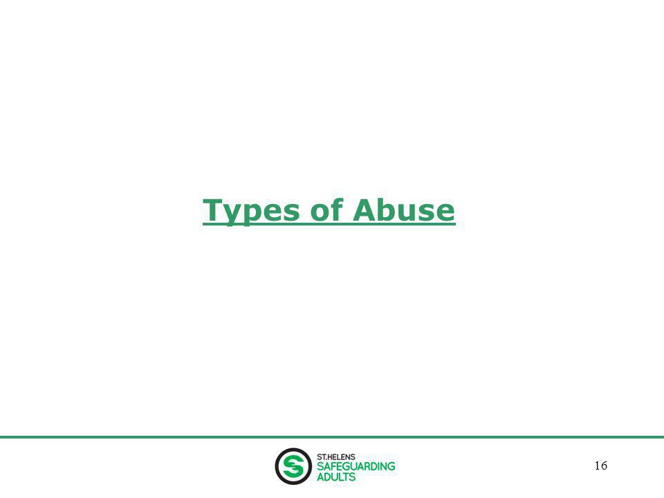January 201316 Types of Abuse