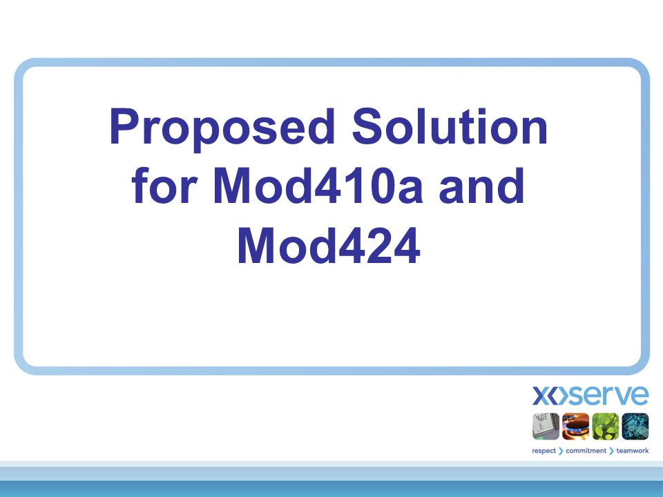 Proposed Solution for Mod410a and Mod424