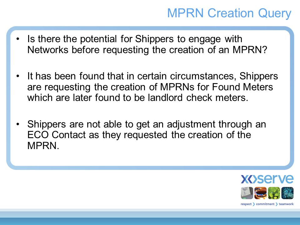 Is there the potential for Shippers to engage with Networks before requesting the creation of an MPRN.