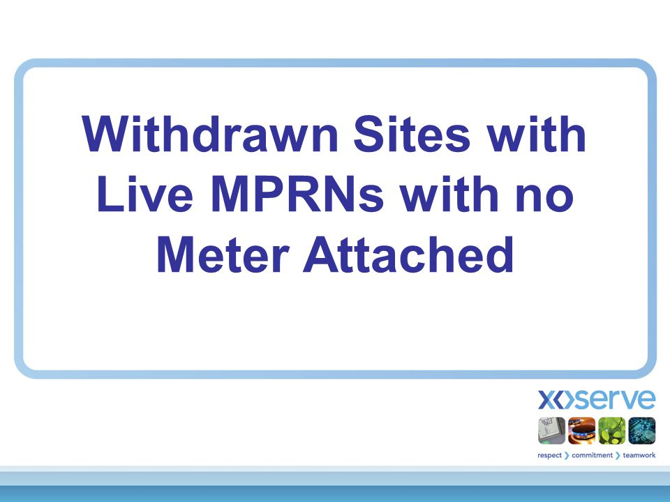 Withdrawn Sites with Live MPRNs with no Meter Attached