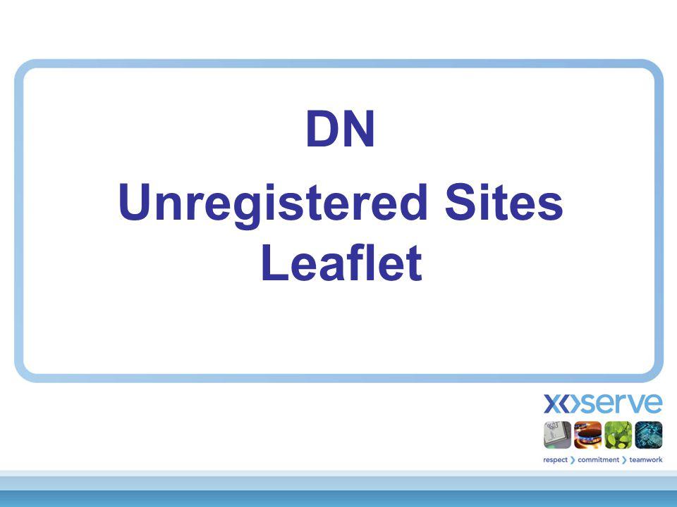 DN Unregistered Sites Leaflet