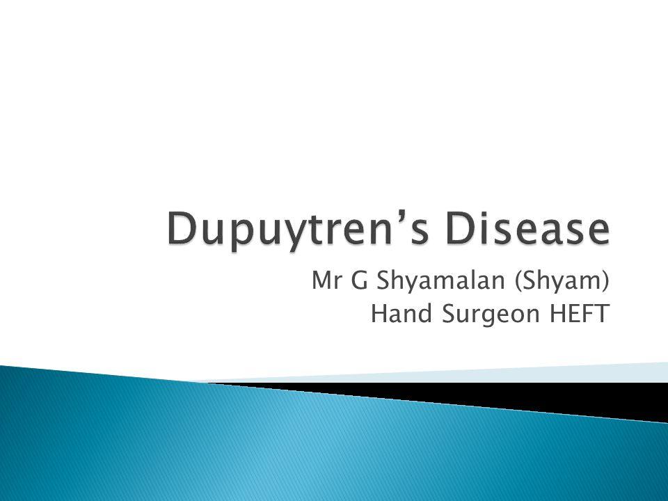 Mr G Shyamalan (Shyam) Hand Surgeon HEFT