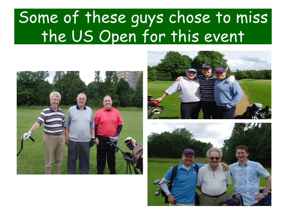 Some of these guys chose to miss the US Open for this event