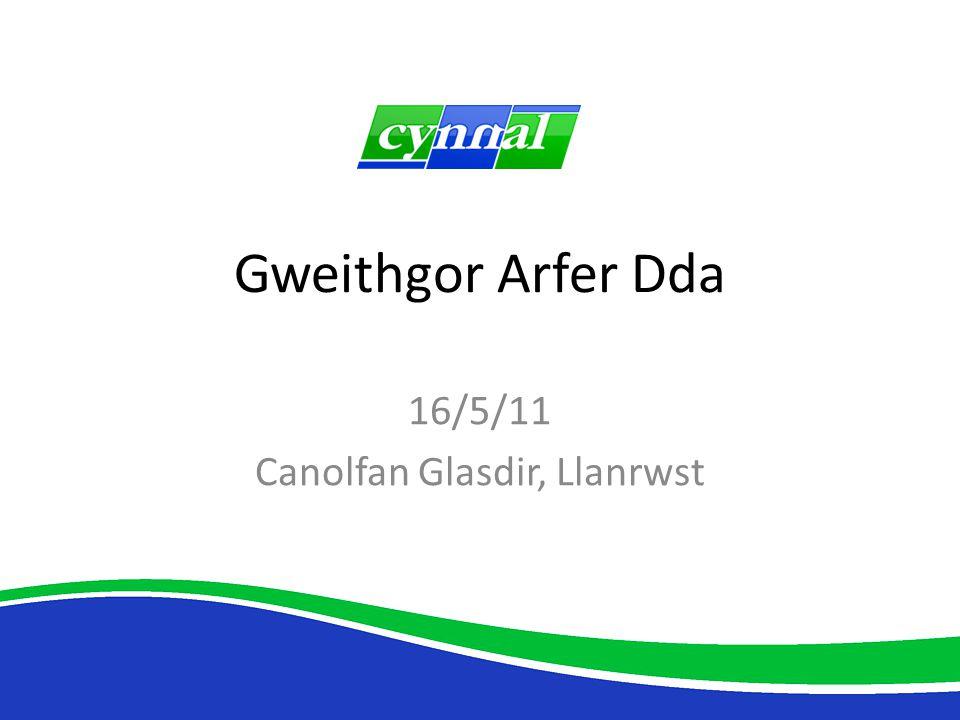 Gweithgor Arfer Dda 16/5/11 Canolfan Glasdir, Llanrwst