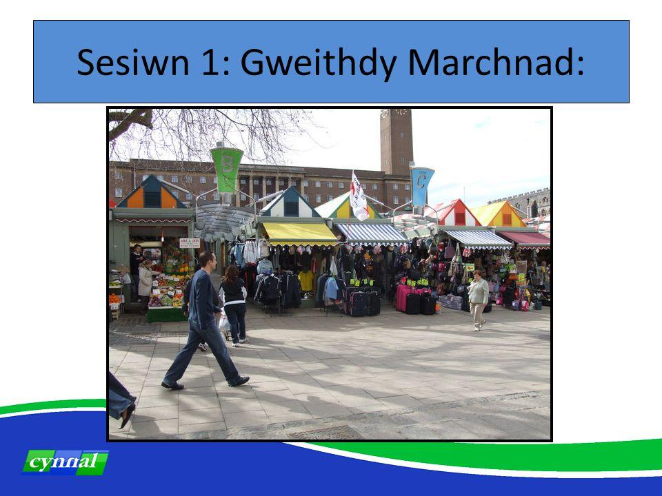 Sesiwn 1: Gweithdy Marchnad: