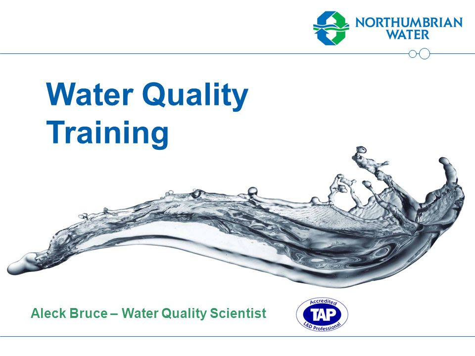 Aleck Bruce – Water Quality Scientist Water Quality Training