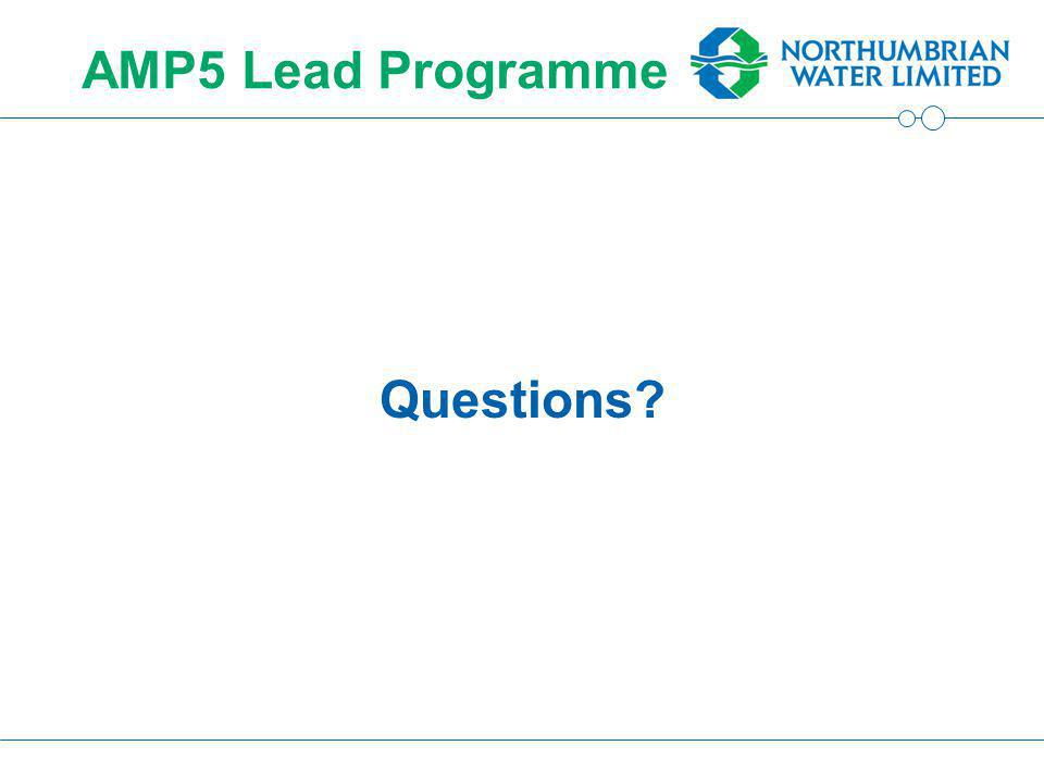 AMP5 Lead Programme Questions