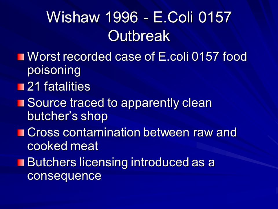 What did these outbreaks have in common.