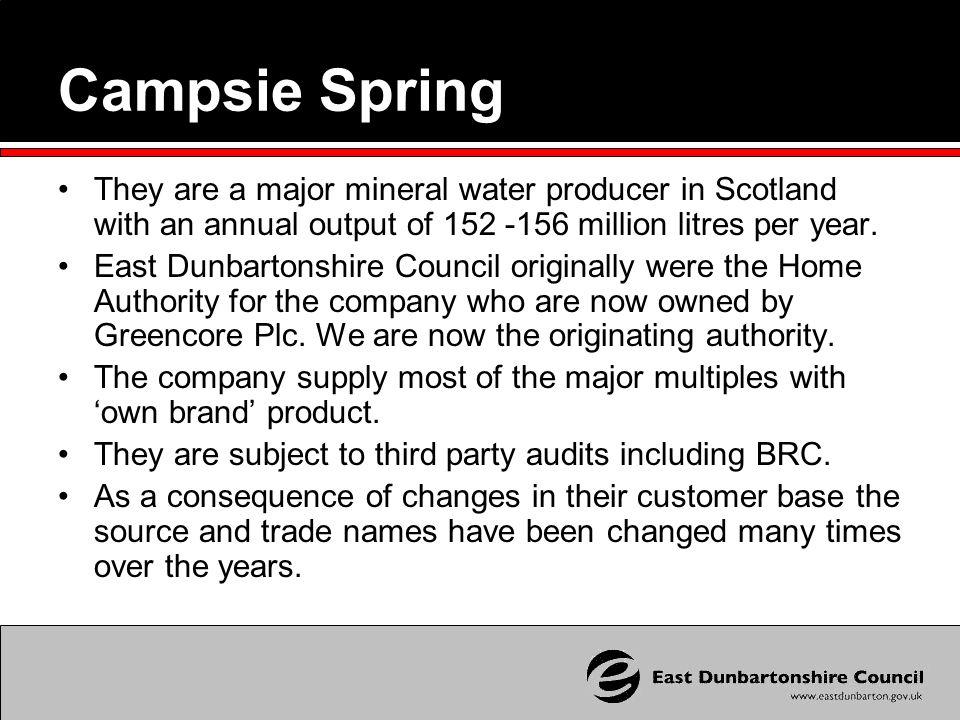 Originating Authority Liaison We act as the originating authority for Campsie Spring.