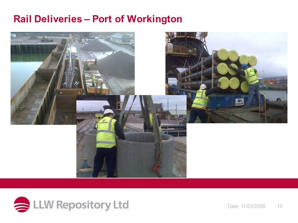 Date: 11/03/200910 Rail Deliveries – Port of Workington
