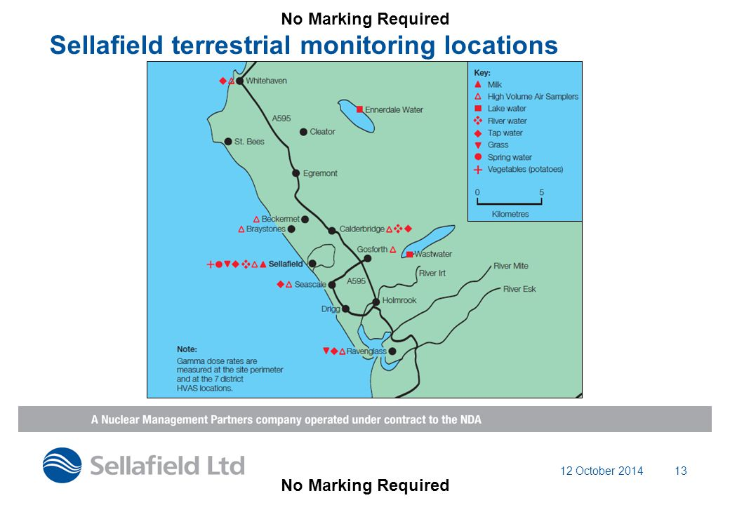 12 October 201413 Sellafield terrestrial monitoring locations No Marking Required