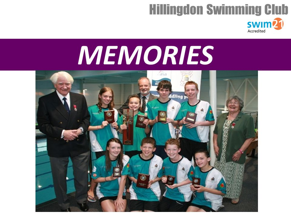 YEAR IN REVIEW JANUARY 2010 – BRITISH CHAMPS 4 SWIMMERS FROM HILLINGDON QUALIFY – Francesca, Sophie, Karley, Luke Hillingdon Swimming Club MARCH 2010 – MIDDLESEX CHAMPS Incredible 574 personal bests Brilliant performances, great team spirit – really dominating performance AWARDS Daniel Lachasseigne 1st place9yr boys George Taplin 1st place10yr boys Bradley O Connor3rd place11yr boys Danny Nelson1st place12yr boys Adam Prunty2nd place14yr boys Tegan Drew 1st place9yr girls & Junior Wilkinson Sword winner Lauren O Connor3rd place10yr girls Sarah Procter 1st place13yr girls Kate Wilson3rd place13yr girls TOP FEMALE CLUB GIRLSBOYS 1 st 473481 2 nd 252853 3 rd 223052 TOTAL9492186