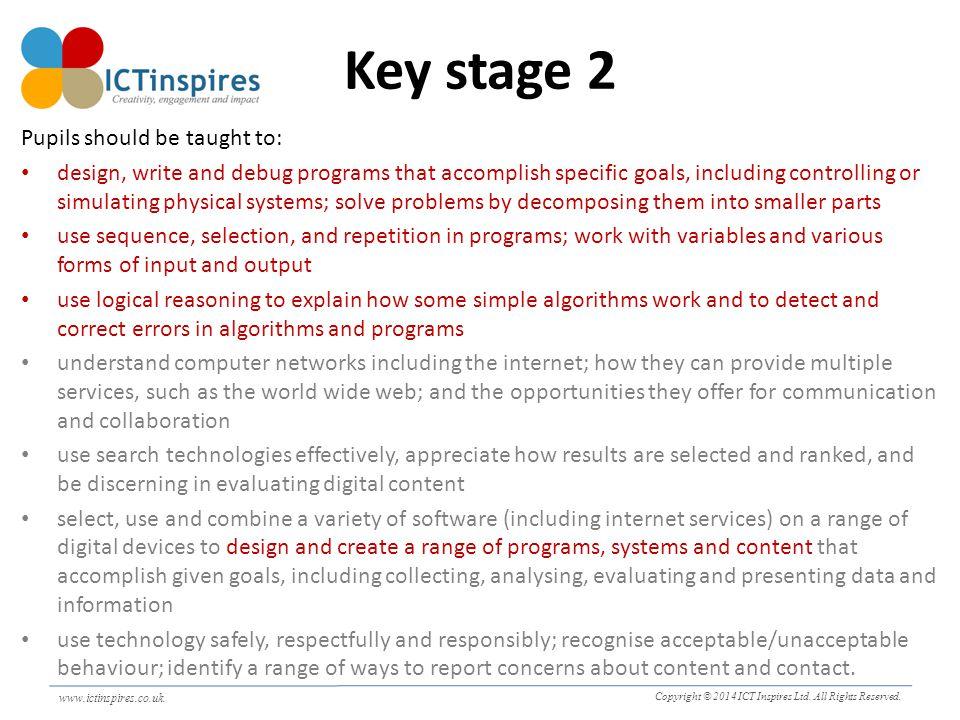 www.ictinspires.co.uk Copyright © 2014 ICT Inspires Ltd.