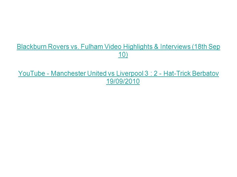 Blackburn Rovers vs.