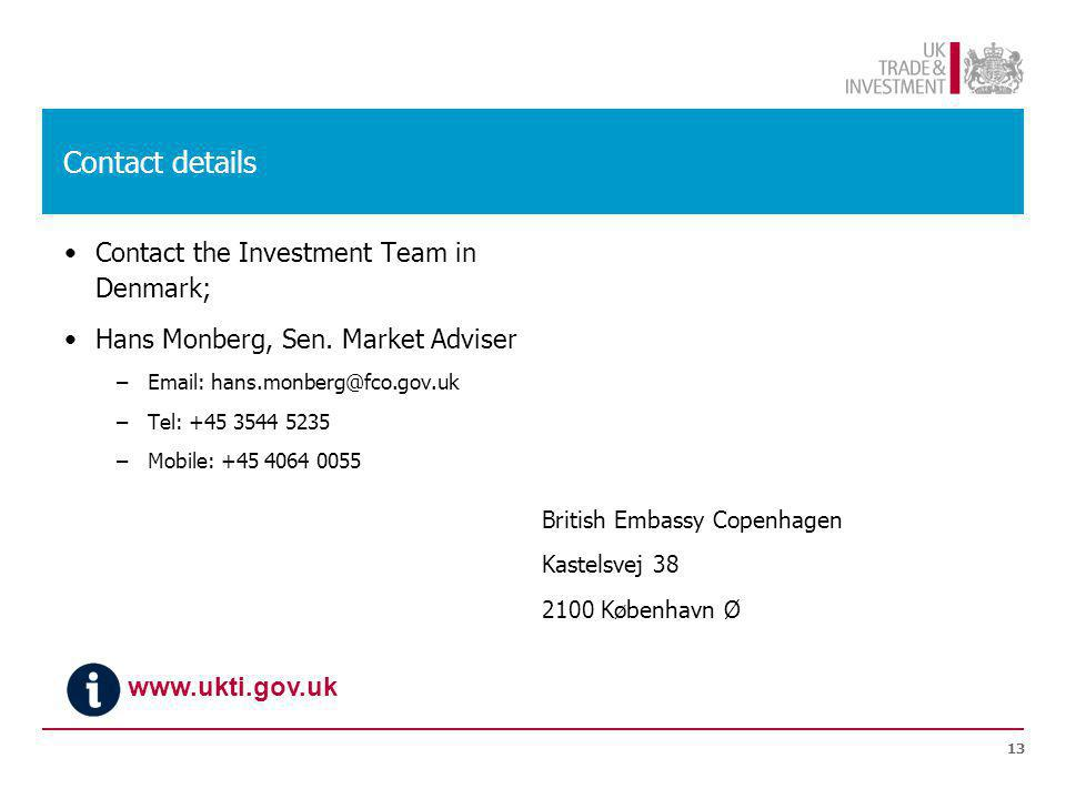 Contact details Contact the Investment Team in Denmark; Hans Monberg, Sen.