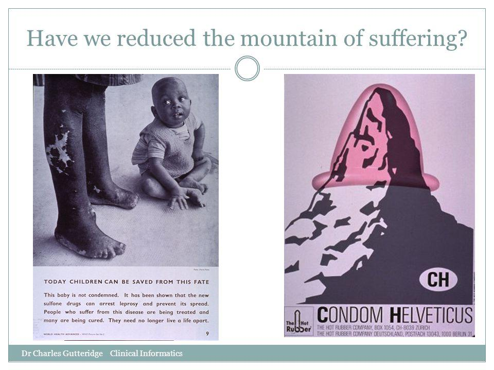 Have we reduced the mountain of suffering? Dr Charles Gutteridge Clinical Informatics