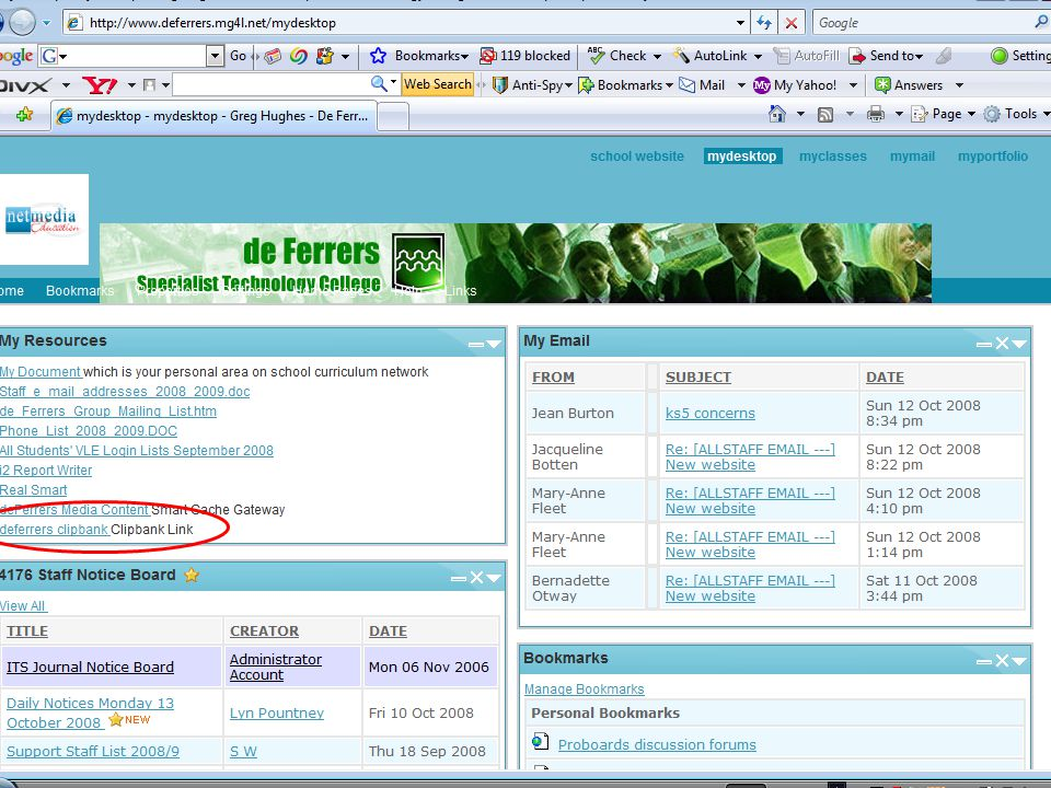 de Ferrers Specialist Technology College CLIPBANK: