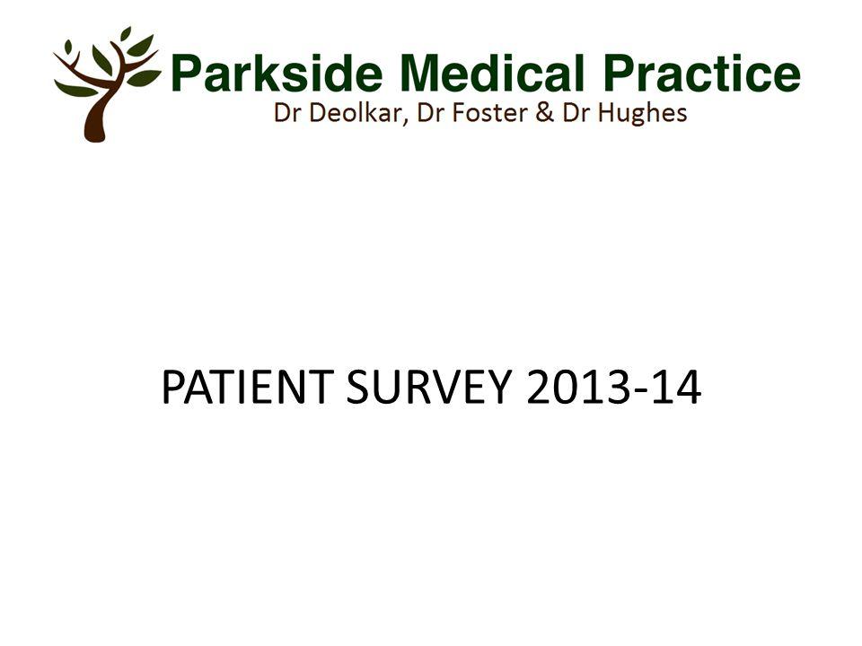 PATIENT SURVEY 2013-14