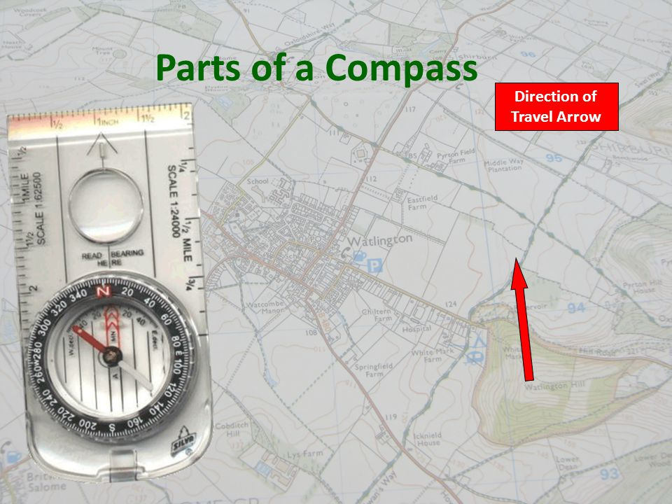 6 Direction of Travel Arrow Parts of a Compass