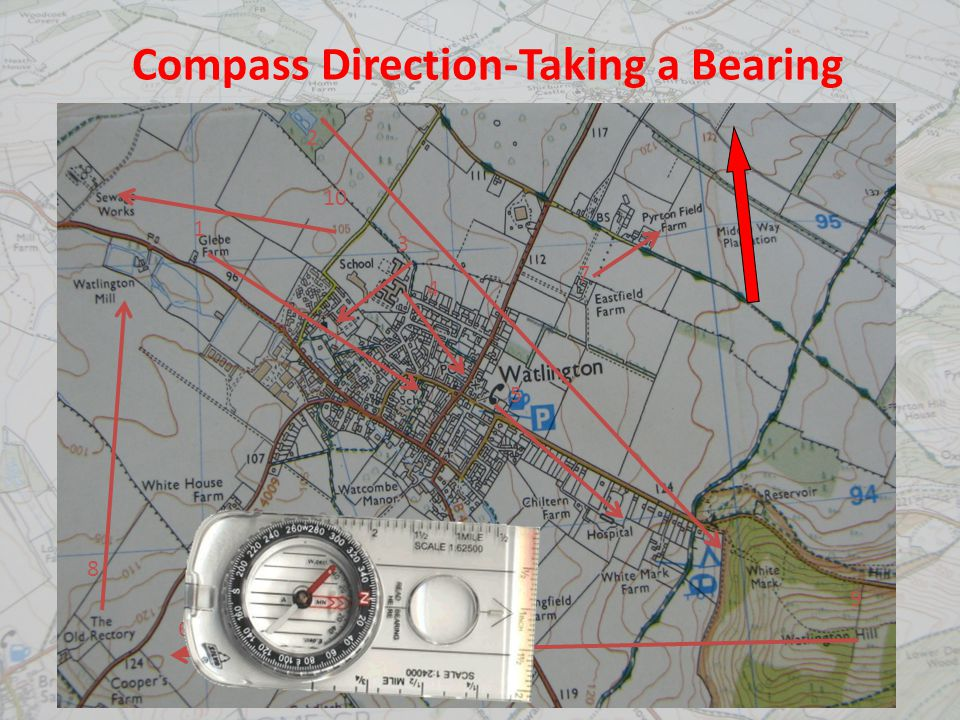 Compass Direction-Taking a Bearing 1 2 3 4 5 7 6 8 9 10