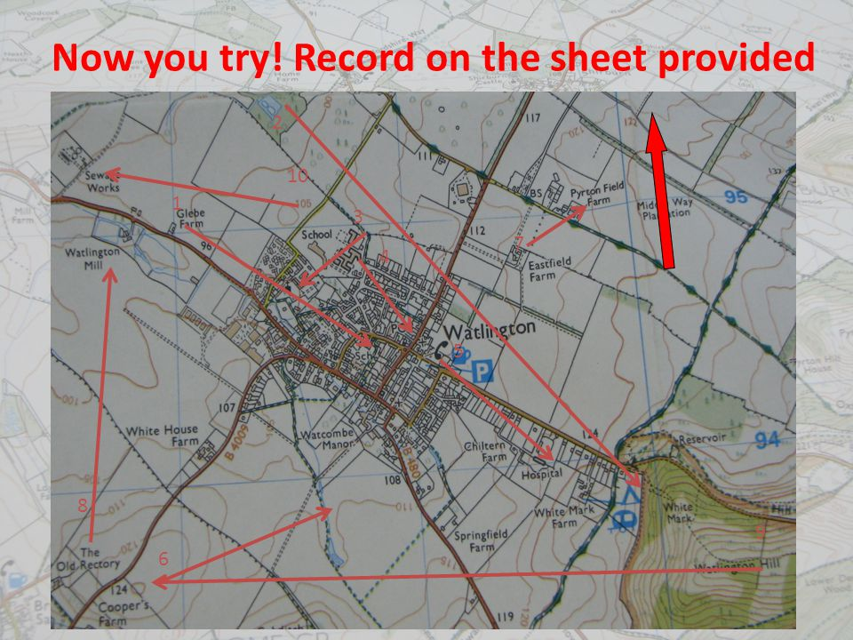 Now you try! Record on the sheet provided 1 2 3 4 5 7 6 8 9 10