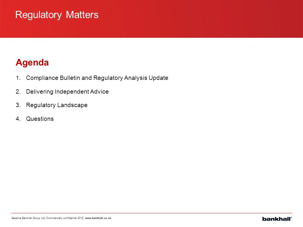 Compliance Bulletin and Regulatory Analysis Updates