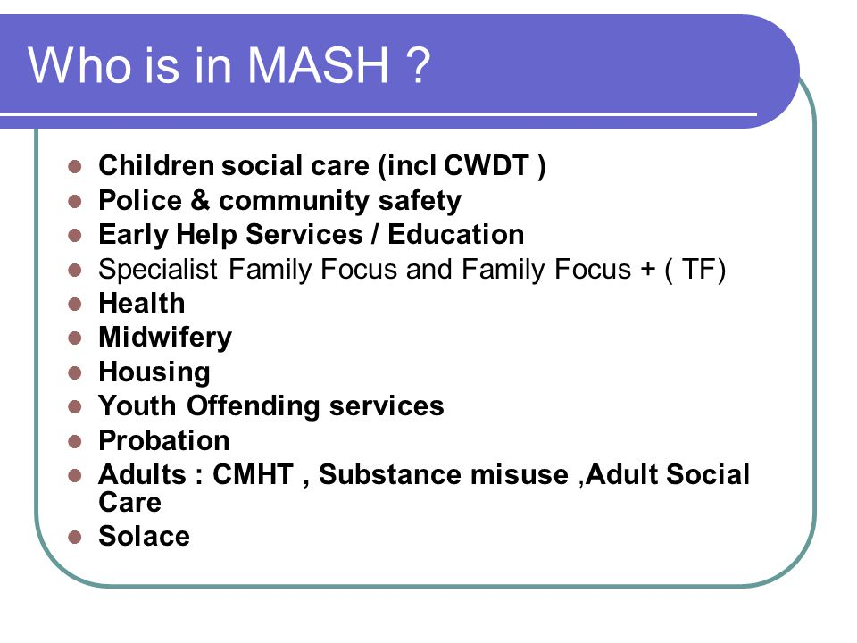 Who is in MASH .