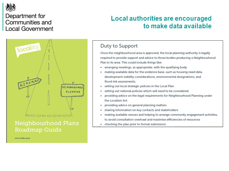 Examples of existing good practice Shropshire Council published Oswestry Market Town Profile with maps, demographic statistics, deprivation statistics, journey to work times etc.