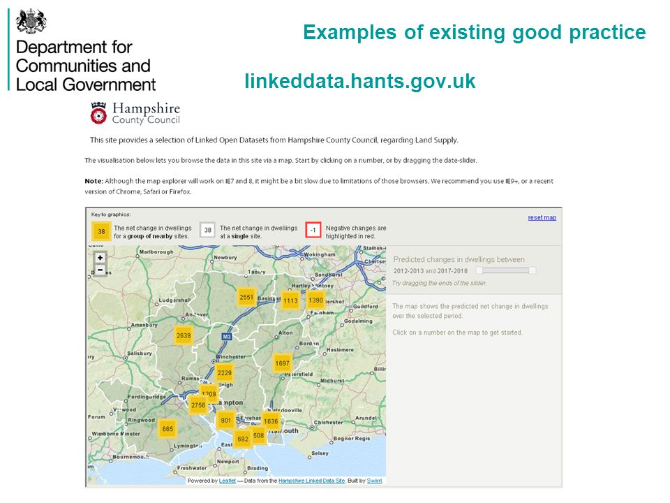 Examples of existing good practice linkeddata.hants.gov.uk