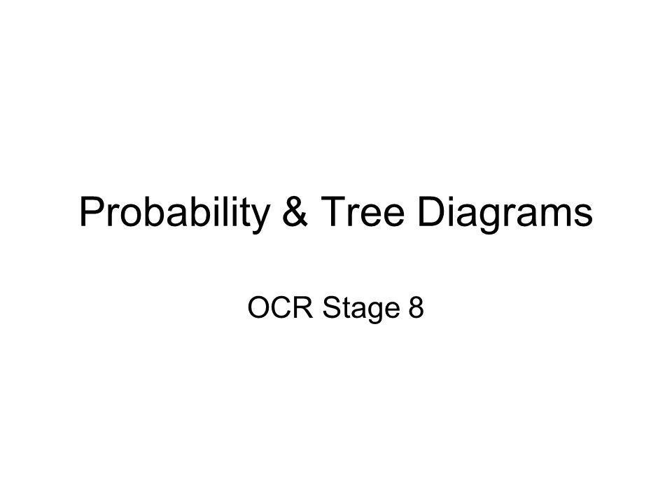 Probability & Tree Diagrams OCR Stage 8