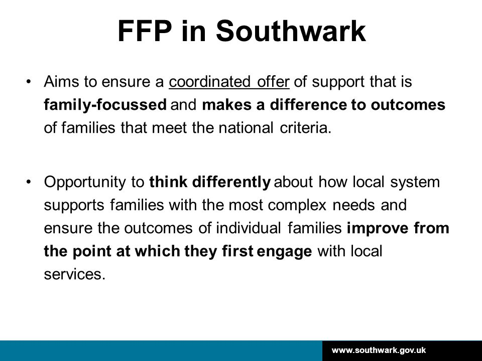 www.southwark.gov.uk How are services involved.