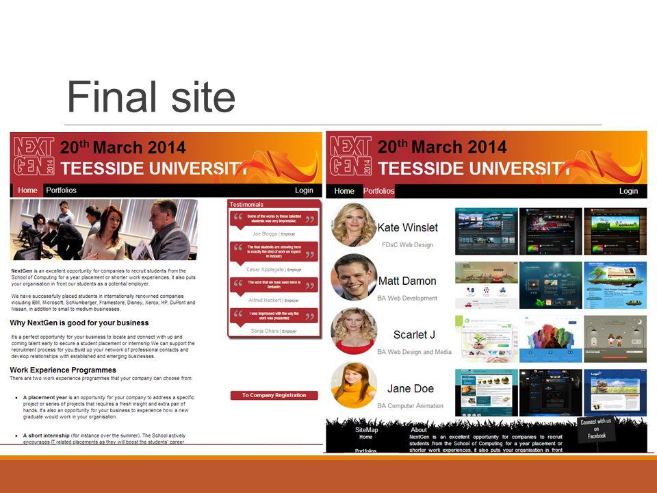 Final site
