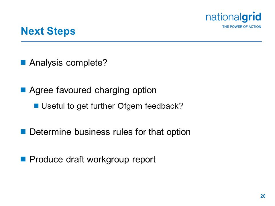20 Next Steps  Analysis complete.