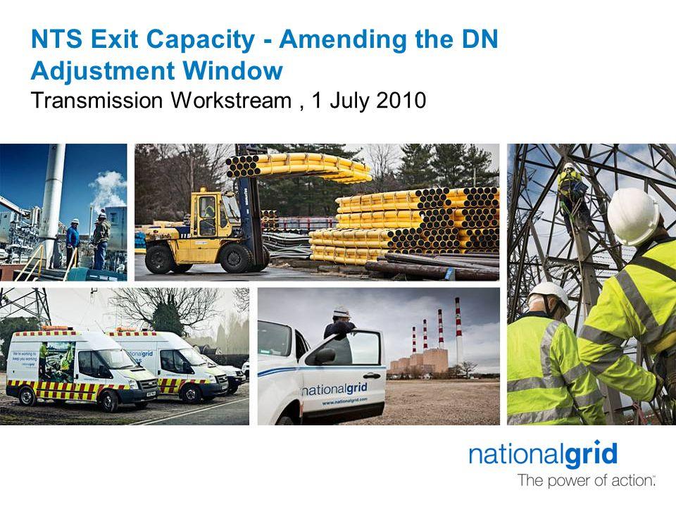 DN Adjustment Window – Brief Overview