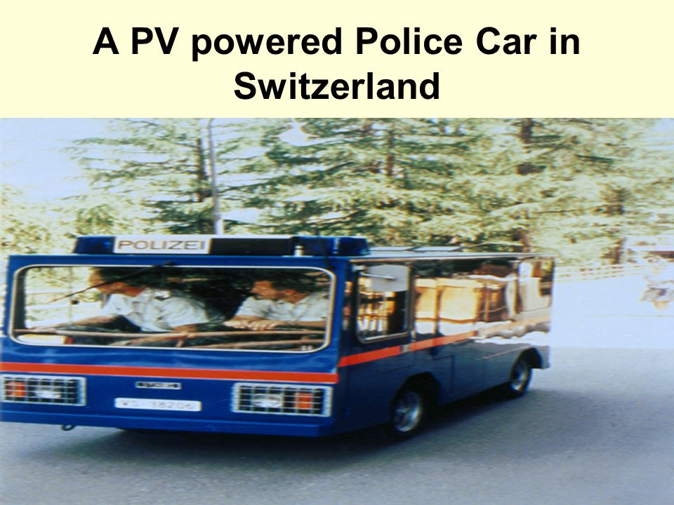 A PV powered Police Car in Switzerland