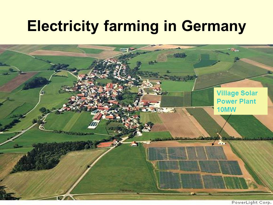 Electricity farming in Germany Village Solar Power Plant 10MW