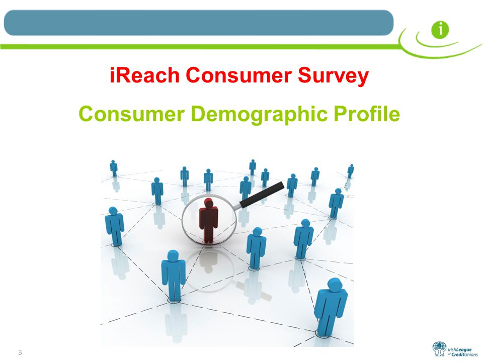 3 iReach Consumer Survey Consumer Demographic Profile