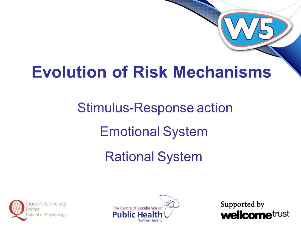 Evolution of Risk Mechanisms Stimulus-Response action Emotional System Rational System