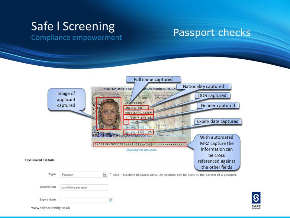 Passport checks