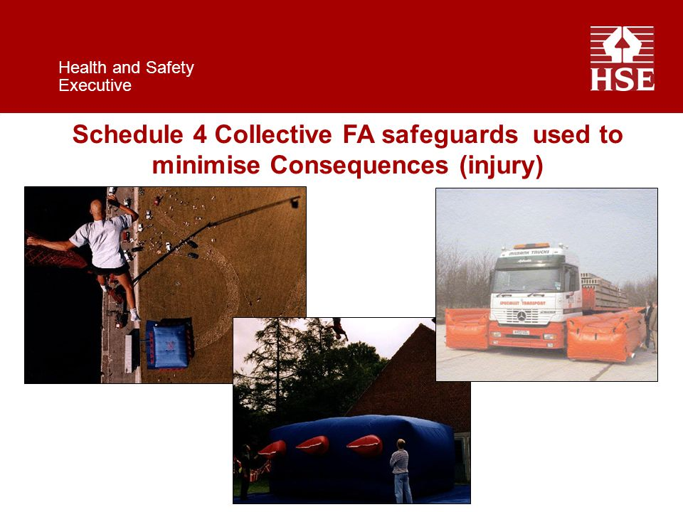 Health and Safety Executive Schedule 4 Collective FA safeguards used to minimise Consequences (injury)
