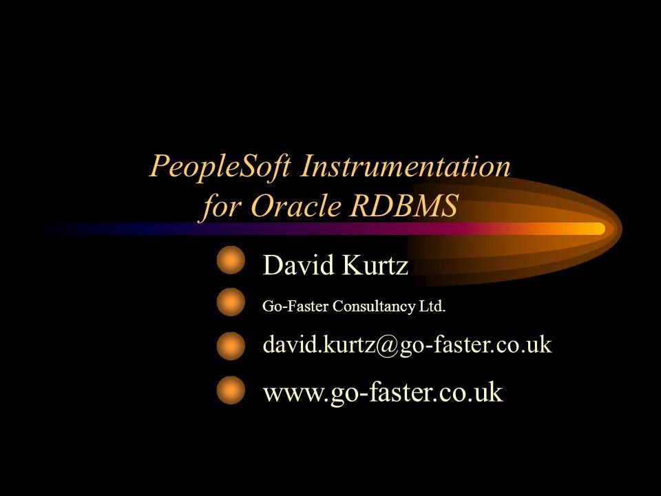 PeopleSoft Instrumentation for Oracle RDBMS David Kurtz Go-Faster Consultancy Ltd. david.kurtz@go-faster.co.uk www.go-faster.co.uk