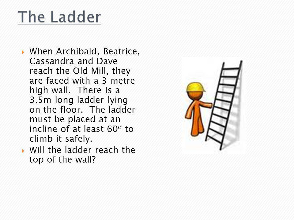  When Archibald, Beatrice, Cassandra and Dave reach the Old Mill, they are faced with a 3 metre high wall.
