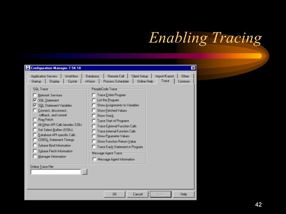 42 Enabling Tracing