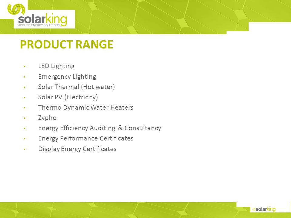 LED LIGHTING SOLUTIONS LED lighting installations provide excellent energy & cost saving opportunities.