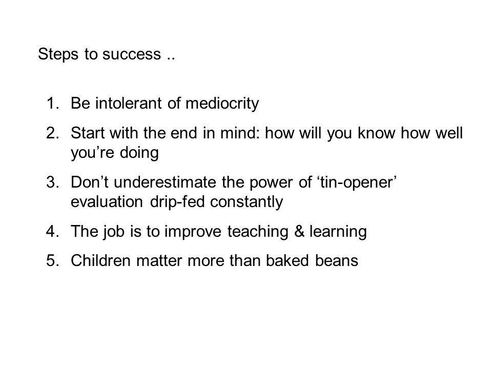 Steps to success..