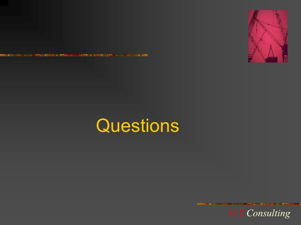 Questions G.T Consulting