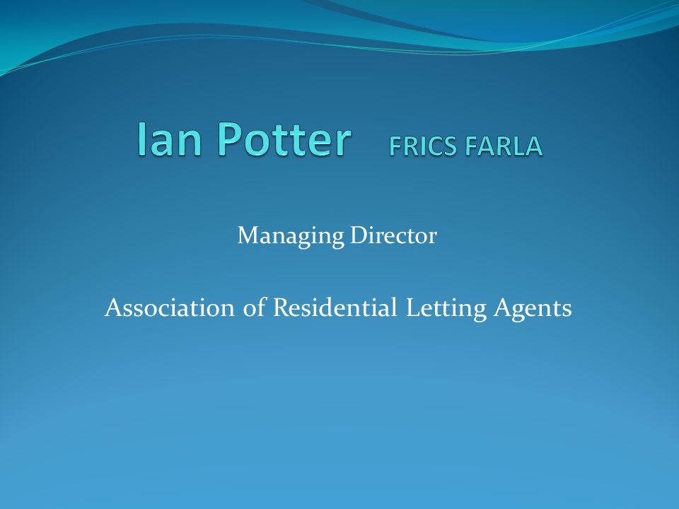 Managing Director Association of Residential Letting Agents
